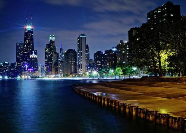 Wall Art - Photograph - Chicago At Lake Michigan by Frozen in Time Fine Art Photography