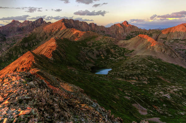 Chicago Basin Sunset Art Print by Photo By Matt Payne Of Durango, Colorado