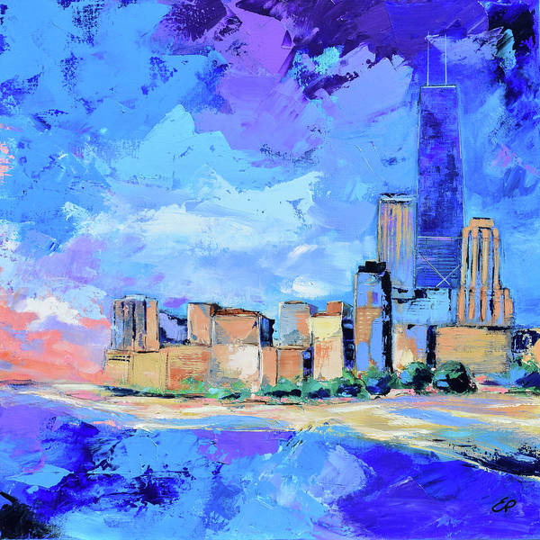 Painting - Chicago Beach by Elise Palmigiani