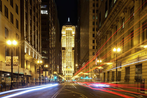 Wall Art - Photograph - Chicago Board Of Trade At Twilight by Andrew Soundarajan