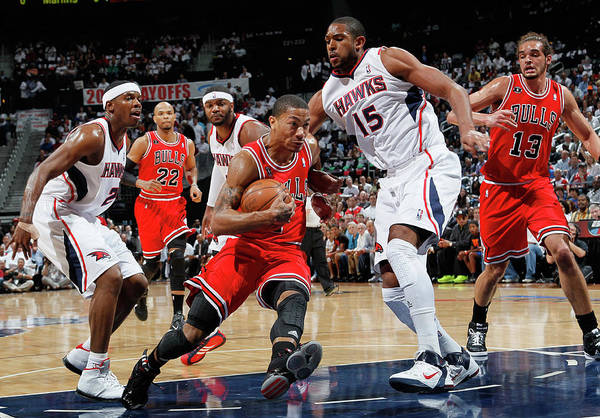 Atlanta Photograph - Chicago Bulls V Atlanta Hawks - Game by Kevin C. Cox