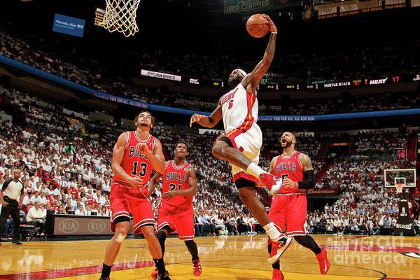 Photograph - Chicago Bulls Vs Miami Heat - Game Two by Issac Baldizon
