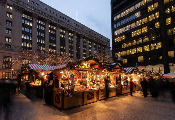 Wall Art - Photograph - Chicago Christkindl Holiday Market 2 by Steve Gadomski