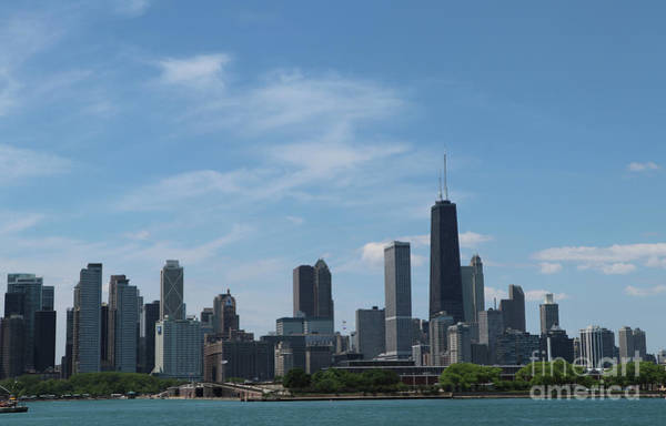 Wall Art - Photograph - Chicago City From Lake Michigan by Christiane Schulze Art And Photography