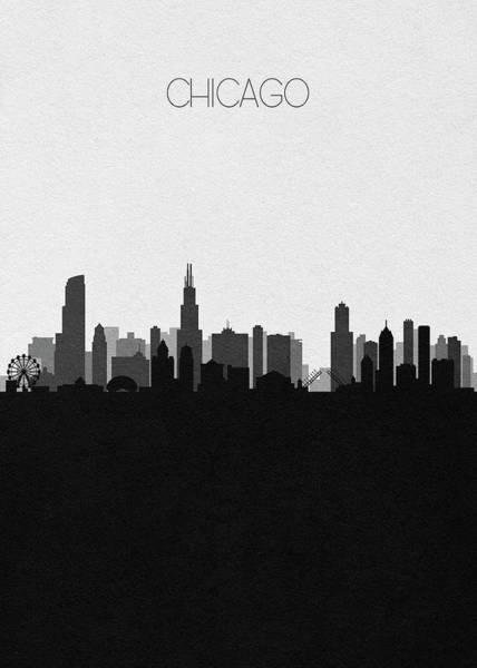 Souvenir Digital Art - Chicago Cityscape Art V2 by Inspirowl Design