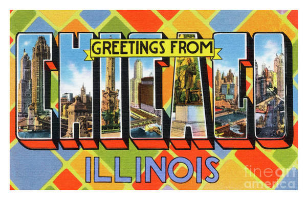 Photograph - Chicago Greetings - Version 1 by Mark Miller