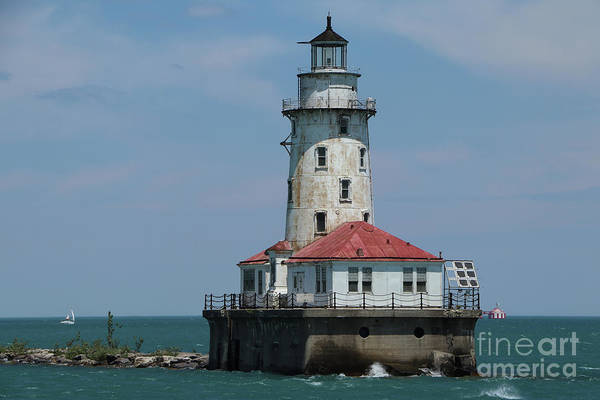 Wall Art - Photograph - Chicago Harbor Light by Christiane Schulze Art And Photography