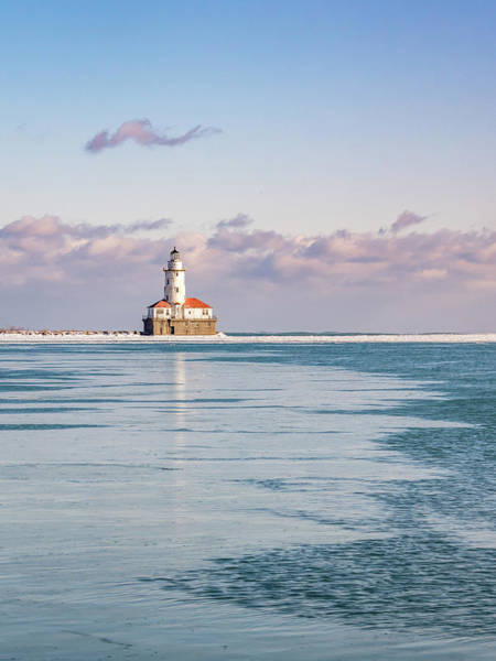 Photograph - Chicago Harbor Light Portrait by Framing Places
