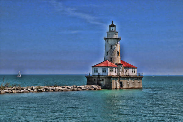 Photograph - Chicago Harbor Lighthouse by Allen Beatty