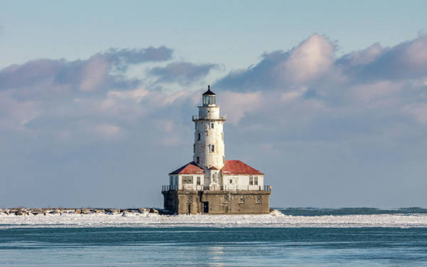 Photograph - Chicago Harbour Light by Framing Places