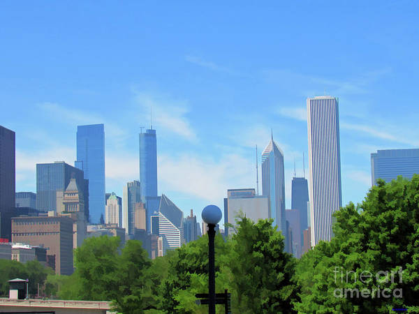 Photograph - Chicago In Blue And Green by Roberta Byram