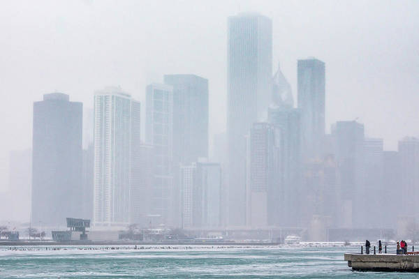 Photograph - Chicago In The Mist by Framing Places