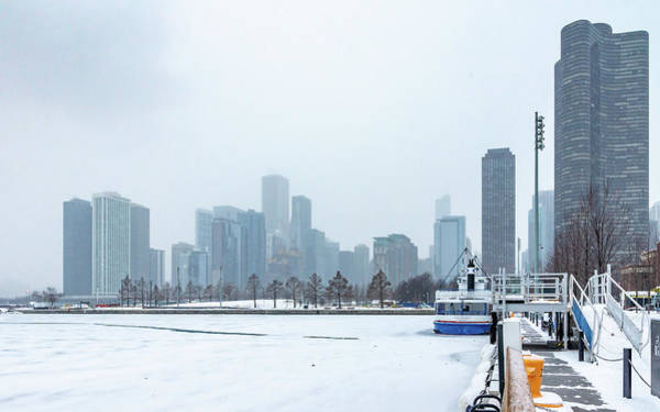 Photograph - Chicago In Winter by Framing Places