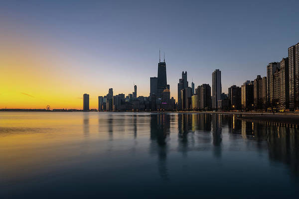 Wall Art - Photograph - Chicago Lakefront Dawn by Steve Gadomski
