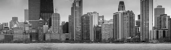 Wall Art - Photograph - Chicago Lakefront Panorama by Donald Schwartz