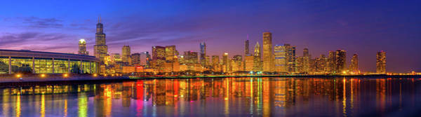 Wall Art - Photograph - Chicago Lakefront Reflections Alt by Kevin Eatinger