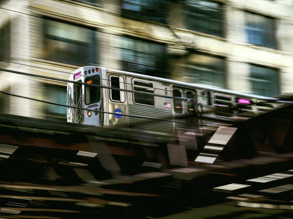 Wall Art - Photograph - Chicago Loop C T A Train by Daniel Hagerman