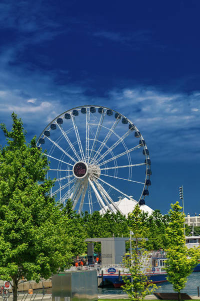 Wall Art - Photograph - Chicago Navy Pier Brilliant Blue Day by Betsy Knapp
