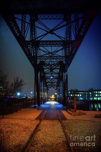 Wall Art - Photograph - Chicago Railroad Bridge by Bruno Passigatti