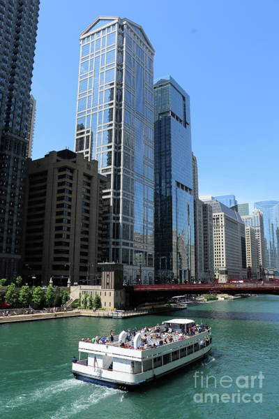 Wall Art - Photograph - Chicago River At Dearborn Street by Christiane Schulze Art And Photography