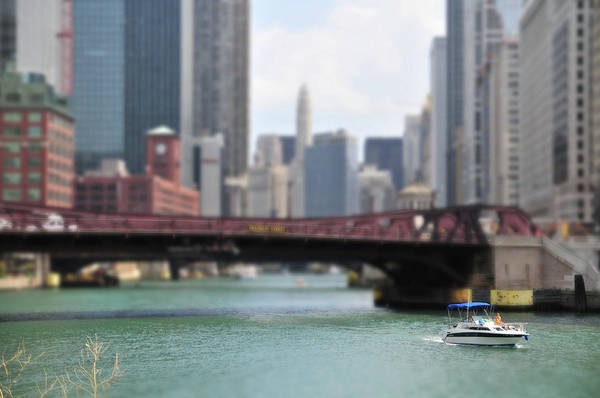 Motorboat Photograph - Chicago River Boat Ride by ~  Jrae  ~