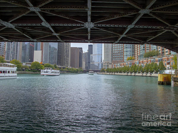 Photograph - Chicago River Boating by Ann Horn