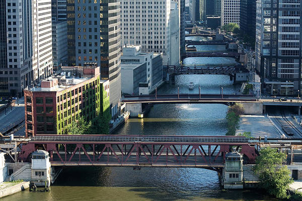 Illinois Photograph - Chicago River Bridges by Stevegeer