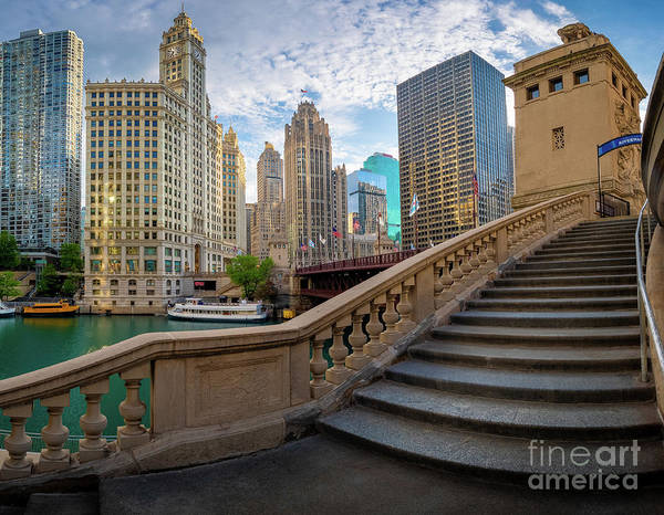 Wall Art - Photograph - Chicago Riverwalk  by Inge Johnsson