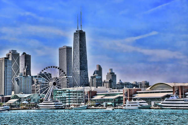Photograph - Chicago Skyline # 3 by Allen Beatty