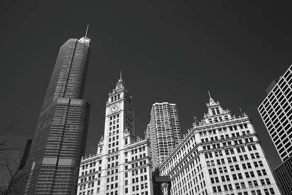 Photograph - Chicago Skyline Bw 3 by Frank Romeo