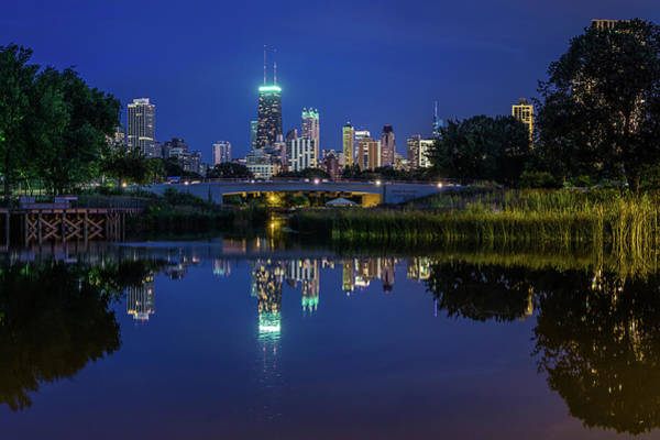Chicago Photograph - Chicago Skyline From Lincoln Park by Carl Larson Photography