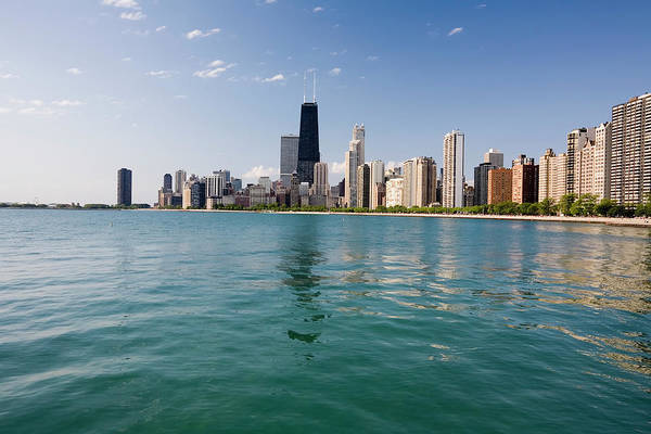 Lake Photograph - Chicago Skyline From The Lake by Stevegeer