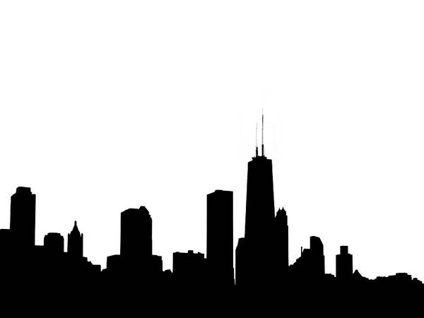 Photograph - Chicago Skyline High Key Graphic by Marilyn Hunt