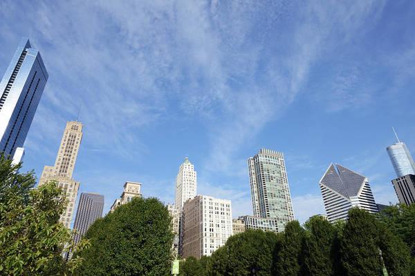 Millennium Park Photograph - Chicago Skyline by Lisa-blue