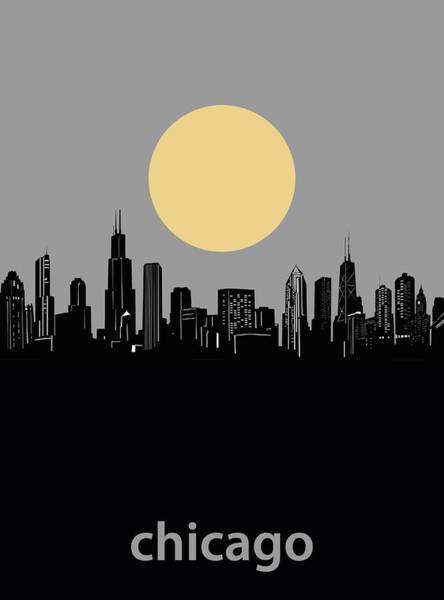 Chicago Skyline Minimalism 2 Art Print