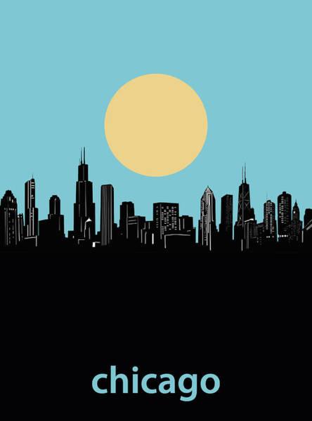 Chicago Skyline Minimalism 3 Art Print