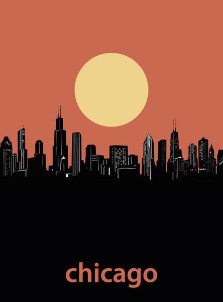 Chicago Skyline Minimalism 4 Art Print