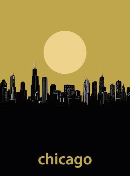 Chicago Skyline Minimalism 5 Art Print
