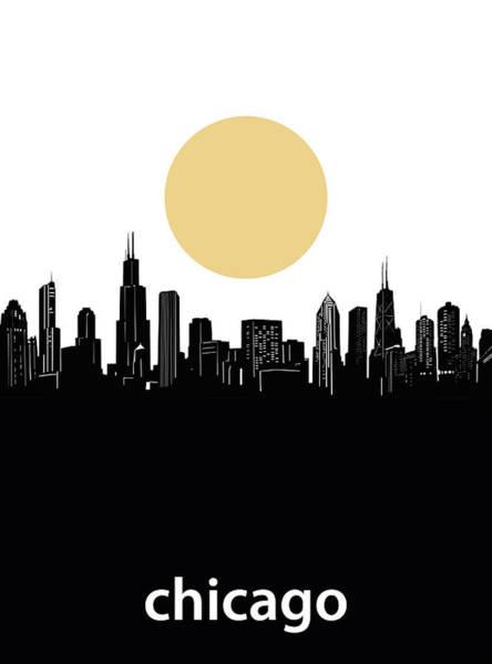 Chicago Skyline Minimalism Art Print