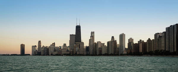 Wall Art - Photograph - Chicago Skyline Sundown Panorama by Steve Gadomski