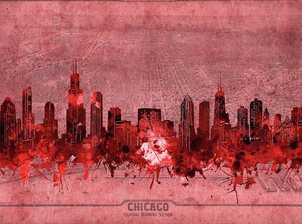 Chicago Skyline Vintage 3 Art Print