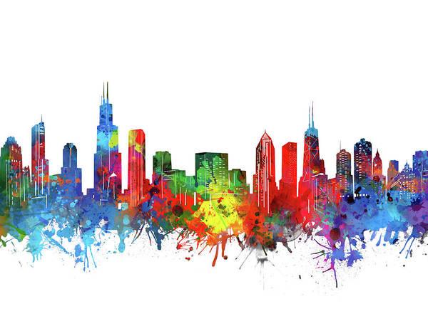 Chicago Skyline Watercolor Art Print