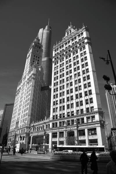 Photograph - Chicago Skyscrapers Bw 2 by Frank Romeo