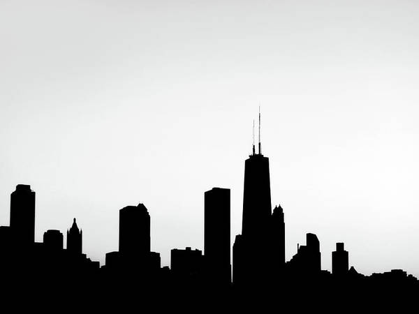 Photograph - Chicago Skyscrapers Silhouette by Marilyn Hunt