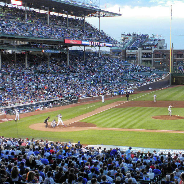 Jon Lester Photograph - Chicago Sports Chicago Cubs Up To Bat Sq Format by Thomas Woolworth