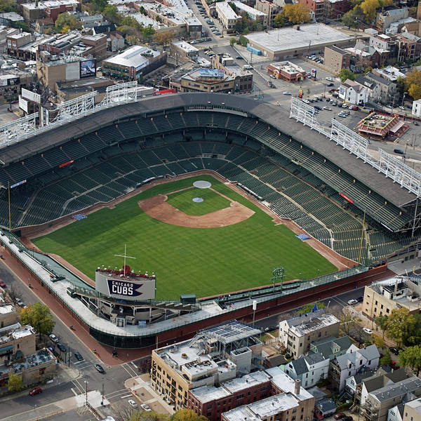 Jon Lester Photograph - Chicago Sports Wrigley Field 01 Sq Format by Thomas Woolworth
