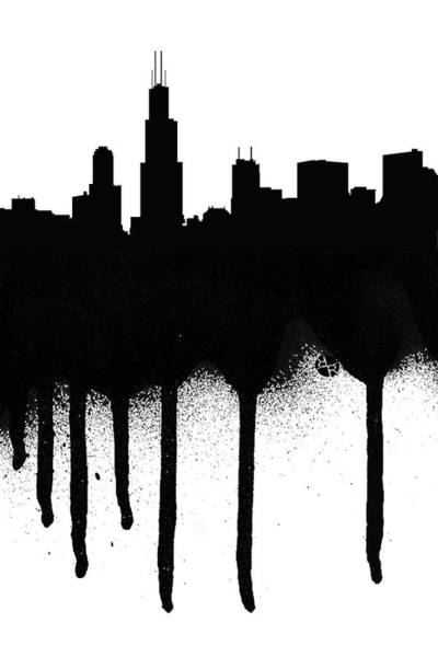 Painting - Chicago Spray Paint Graffiti by Tony Rubino