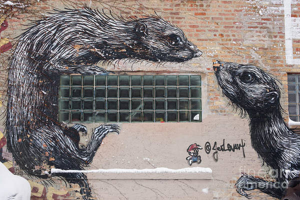 Photograph - Chicago Street Art, Graffiti, Rats by Juli Scalzi