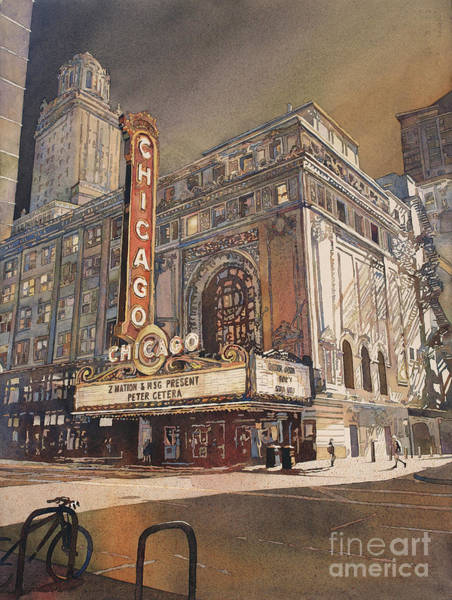Wall Art - Painting - Chicago Theatre- Illinois by Ryan Fox
