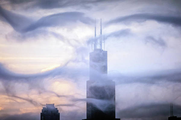 Chicago Tops No. 2 Art Print by By Ken Ilio